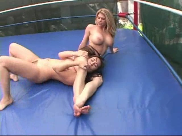 big breasted women wrestling
